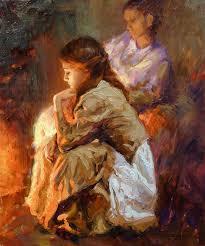 vadim dolgov by the fireplace by oilpaintersofamerica on deviantart