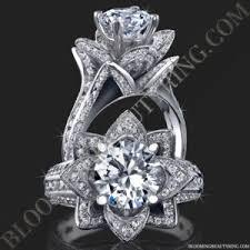 flower engagement rings all flower engagement rings unique engagement rings for women by
