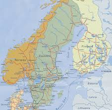 rail europe map scandinavian railway map of sweden finland and demark by