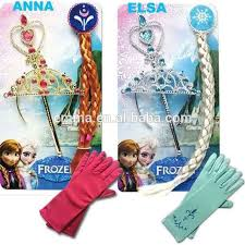 quality anna elsa crown gloves girls frozen elsa wand
