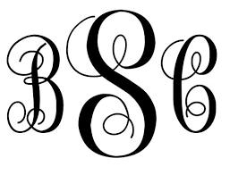 Monogram Letter B Monogram Letter Clipart