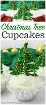 easy christmas tree cupcakes holiday treat idea