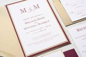 wedding invitations burgundy marsala and gold wedding invitation burgundy and