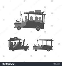 philippine jeep drawing loaded unloaded philippine jeepney on white stock vector 344170946