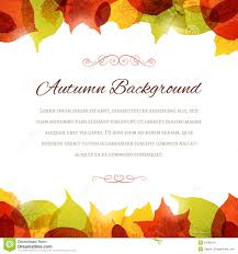 autumn background with leaves at the top and bottom stock vector