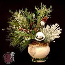 white christmas u0026 silver bells arrangement u2013 pink clover wreath