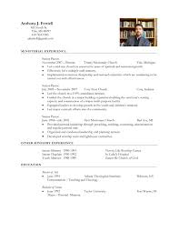 Pastor Resume Template Ministry Resume Templates Haadyaooverbayresort Com