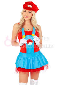 mario brothers halloween costumes womens super mario brothers plumber fancy dress up party costume