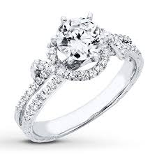 pretty engagement rings jared diamond engagement ring 1 1 3 ct tw cut 14k white gold