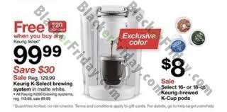 keurig black friday 2017 sale k cup coffee brewer deals