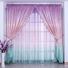 Ombre Sheer Curtains Ombre Dye Curtain Rustic Quality Window Curtaingirl Living Room