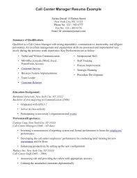 Call Center Resume Sample Without Experience by Outbound Call Center Resume Samples