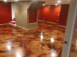 How To Stain A Concrete Basement Floor by Colored Concrete Basement Floors Houses Flooring Picture Ideas