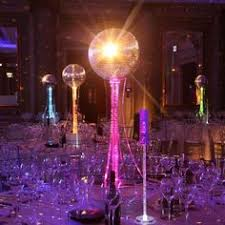 Ball Table Decorations Disco Vase This Was Surrounded By Gold And Silver Picks And