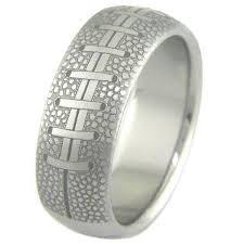 engraved wedding rings men s titanium football wedding ring titanium buzz