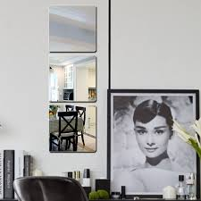 honana bx 190 mirror 3d acrylic silver wall sticker decal bathroom