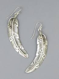 silver feather earrings american silver feather earrings get yours