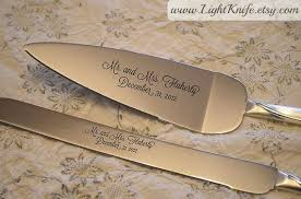 personalized wedding serving set two hearts silver custom wedding cake serving set 2127544