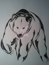 nicely designed polar bear tattoo design isbjørne pinterest