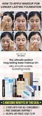 to apply makeup for long lasting foundation