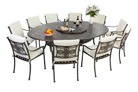 Patio Table Seats 8 Decoration Piece Cast Aluminum Patio Dining Set Seats And Metal