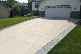 Brushed Concrete Patio Gray Brushed Concrete Driveway With Gray Tones Ashlar Cut Stamped