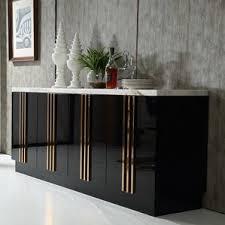 Black Contemporary Sideboard Marble U0026 Granite Sideboards U0026 Buffets You U0027ll Love Wayfair