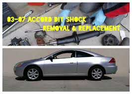 honda accord bumper replacement cost how to replace shocks struts on 2003 2007 honda accord