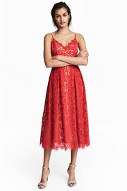 lace dress red ladies h u0026m gb