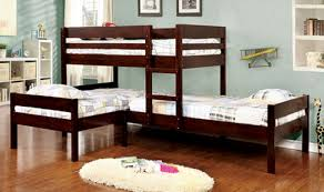 ANFORD Espresso Finish Solid Wood Bunk Bed - Solid wood bunk beds