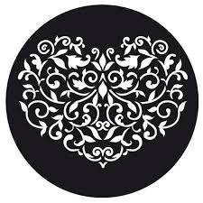 pochoir cuisine pochoir de cuisine pour gâteaux 22 cm coeur baroque x1 artemio