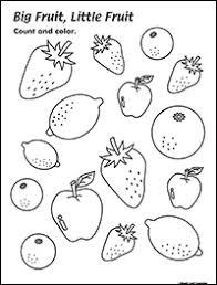 big fruit little fruit adjectives worksheet maple leaf learning