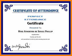 7 certificate of attendance template word free weekly template