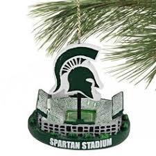 michigan state spartans team helmet 3 ornament msu tree