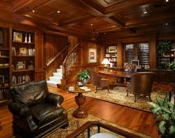 dark wood paneling wood paneling adds elegance and warmth to your home office