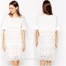 white lace dress with sleeves knee length wholesales white lace knee length dress embellished high quality