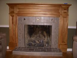 image of wood fireplace mantels ideas