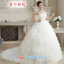 white honeymoon bridal wedding dresses 2015 winter wedding classic wipe chest