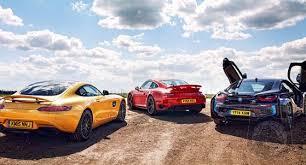 vs porsche 911 turbo car wars bmw i8 vs mercedes amg gt vs porsche 911 turbo which