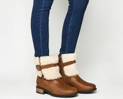 s ugg australia blayre boots ugg blayre ii shearling boots chestnut leather ankle boots