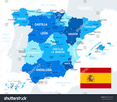 Spain Map World by Spain Map Flag Illustration Spain Map Stock Vector 253564825