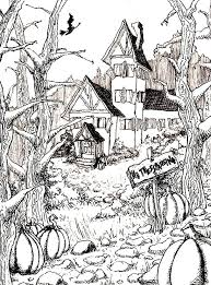 159 best coloring pages autumn halloween pumpkins witches