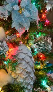 4 Christmas Tree With Lights by Traditional Christmas Tree With Colored Lights Slightly Coastal