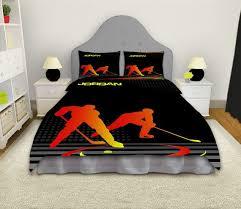 Hockey Bedding Set Hockey Comforter Hockey Bedding Hockey Bedding Sets Boys