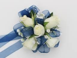 white wrist corsage navy white wrist corsage norwood ma florist