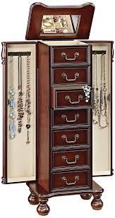 amazon com acme 97006 lopez jewelry armoire cherry finish