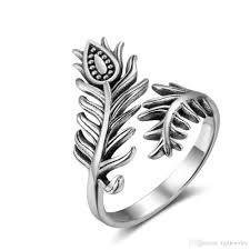 jewelry rings unique images Exquisite feather rings unique open finger ring fashion jewelry jpg
