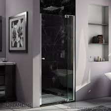 38 Shower Door Shop Dreamline 37 In To 38 In Frameless Chrome Pivot Shower