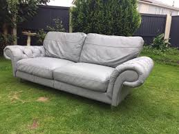 Second Hand Garden Furniture Merseyside Stunning Grey Leather Chesterfield Style Sofa By Sofaworks Can