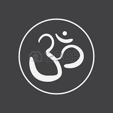 hindu om symbol icon in simple style isolated on white background